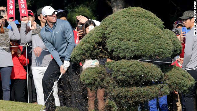 Rory McIlroy had a mixed day at the Korea Open but is still in contention entering the weekend.