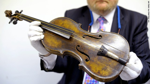 Titanic band leader Wallace Hartley's violin sold for $1.7 million at Henry Aldridge and Son Auctioneers in Devizes, England, on Saturday, October 19. The sale price was far higher than expected.