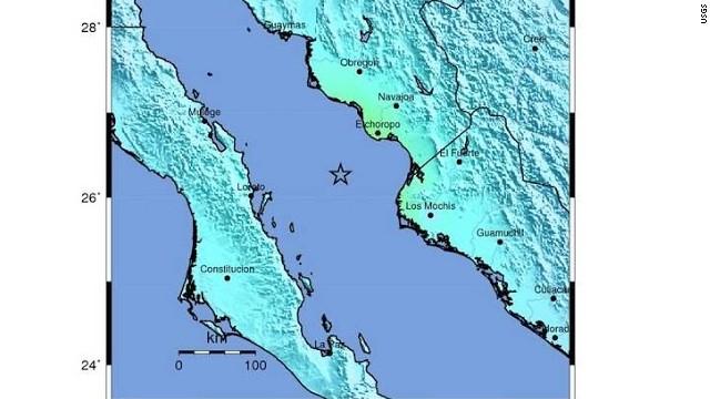Un terremoto de 6,4 grados sacude el Golfo de California