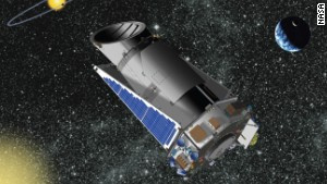 The Kepler Space Telescope, launched in 2009, finds planets by looking for dips in the brightness of stars as a planet crosses in front.