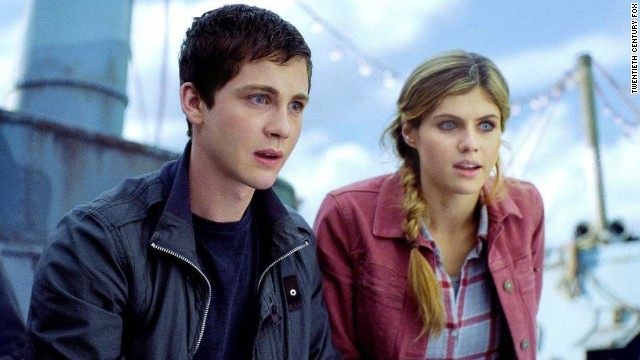 "The first ""Percy Jackson"" adaptation, based on Rick Riordan's popular series, came out in 2010 and fans were struck by serious deviations from the original plot and even the hair color change for a main character, Annabeth. ""Percy Jackson: Sea of Monsters"" continued the franchise in summer 2013 and gave Annabeth (played by Alexandra Daddario) back her original blond hair. Also pictured: Logan Lerman as Percy Jackson."