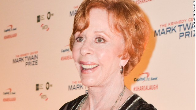 Carol Burnett honored with top comedy prize