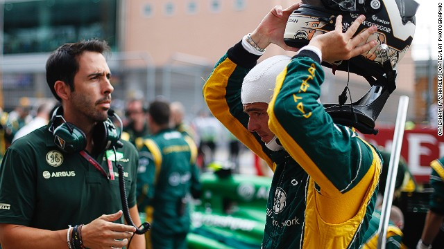 "Trainer Carlos Corell (left) keeps Van Der Garde on a strict diet and fitness regime to help the Dutch racer maintain his weight. ""If you want to be in F1 you have to train harder than the rest, you have to take care of the diet more than the rest,"" Corell says."