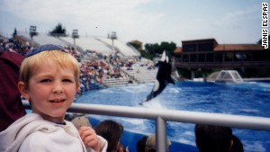 Janis Brett Elspas\' oldest son back in 1998 during the first of some 20 family trips to SeaWorld.