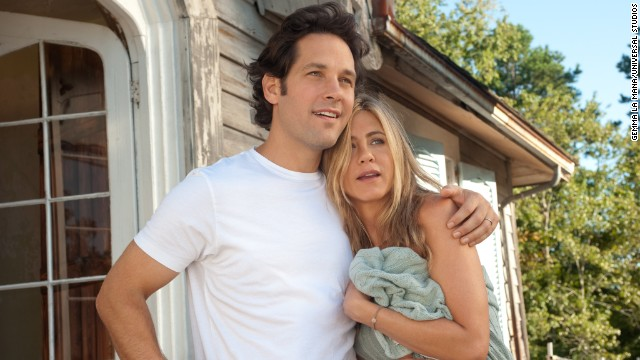 "Jennifer Aniston explored the world of free love and nudity with Paul Rudd in the film ""Wanderlust."" She <a href='http://www.hollyscoop.com/jennifer-aniston/jennifer-aniston-getting-naked-in-movies-is-liberating.html' target='_blank'>has been quoted as saying </a>being nude in movies is ""liberating"" but <a href='http://www.eonline.com/news/433862/jennifer-aniston-talks-being-naked-with-justin-theroux-and-possible-bachelorette-party-plans' target='_blank'>denied to friend Chelsea Handler on her late night talk show</a> that she and her fiance, Justin Theroux, are nudists."