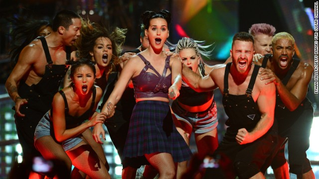 Katy Perry performs during the iHeartRadio Music Festival on September 20 in Las Vegas.