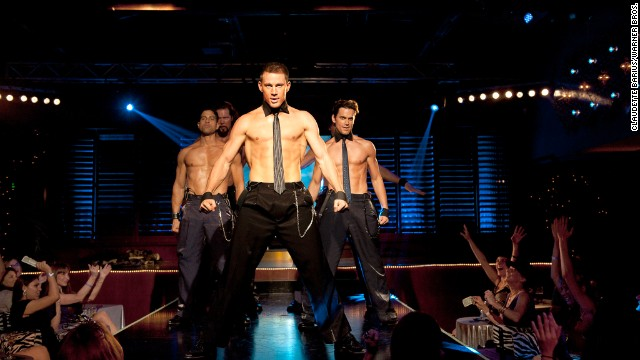 "Channing Tatum shows off some of his better assets in the movie ""Magic Mike,"" and he's set to do that again in a sequel. But as he<a href='http://www.elle.com/pop-culture/celebrities/channing-tatum-interview' target='_blank'> told Elle magazine</a>, he enjoys being in the buff off-camera, too. ""I have a really nice back porch where the pool is,"" he said. ""Once the shoes are off, the socks come off too, and then everything else downstairs just follows at some point."""