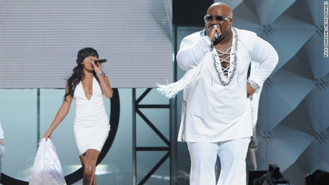 Green and Melanie Fiona perform during the 2011 Soul Train Awards on November 17, 2011, in Atlanta.