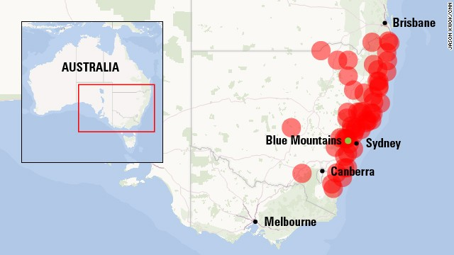 Wildfire threat across New South Wales