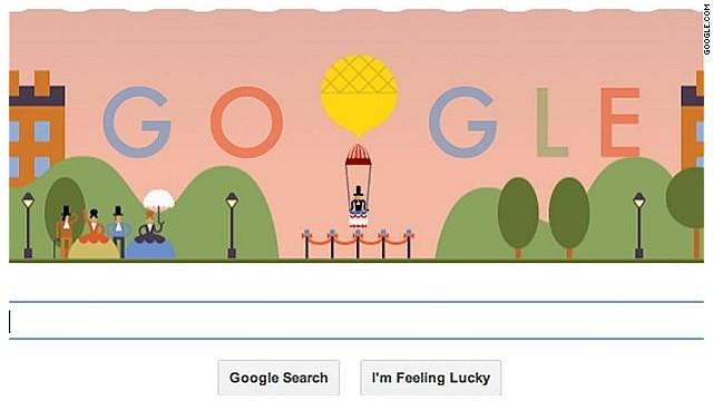 Google honra con un 'doodle' al primer paracaidista del mundo