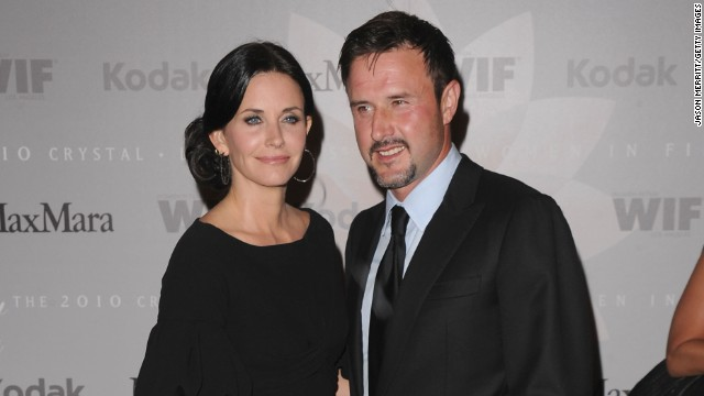 Courteney Cox and David Arquette had an explosive engagement in <!-- --> </br>1998. He had a fireworks display go off at the precise moment he popped the question. They split in 2010.