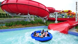 Despite being geared toward kids aged 2-12, Legoland Malaysia Water Park has thrill rides for big \