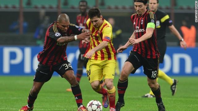 Messi salva al Barcelona en el empate ante el Milan