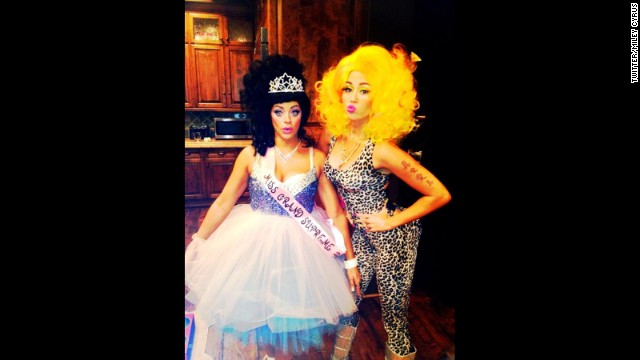 For 2012's All Hallows Eve, <a href='http://www.hollywoodreporter.com/fash-track/halloween-2012-miley-cyrus-nicki-384827' target='_blank'>Miley Cyrus tried Nicki Minaj on for size</a>.