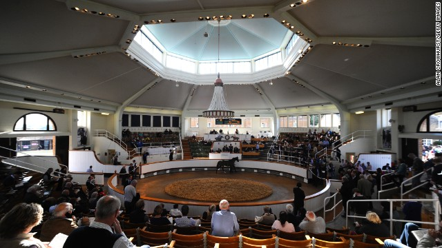 Business is buoyant at the sales ring at Tattersalls in Newmarket. Millions of guineas were offered for some of the world's finest thoroughbreds at its annual yearling sale in October.