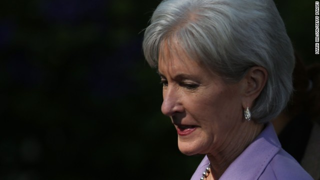 Unfortunate symbolism for Sebelius