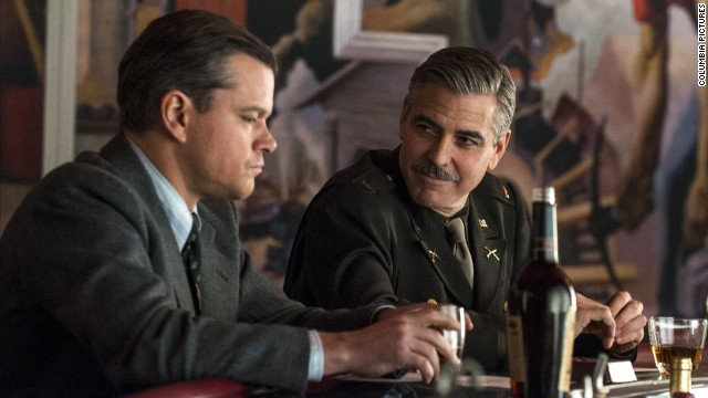 Matt Damon and George Clooney star in the World War II drama