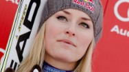 Lindsey Vonn crashes in training run