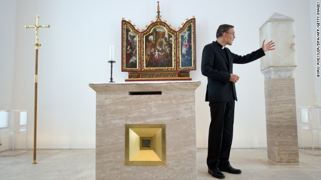 Tebartz-van Elst in his private chapel on December 12, 2012