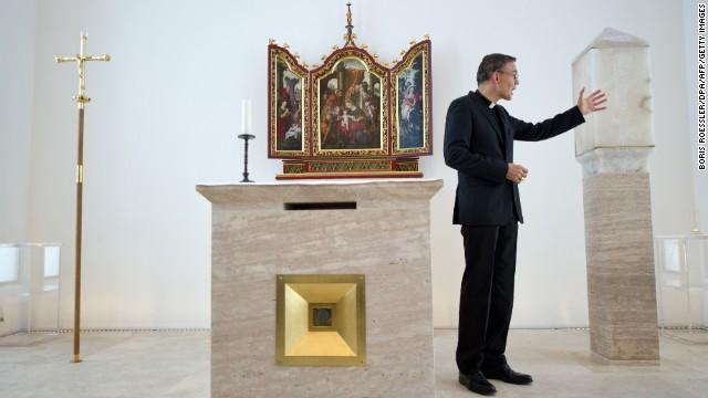 Tebartz-van Elst in his private chapel on December 12, 2012