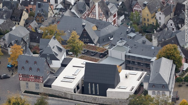 An aerial view shows the newly constructed seat of Tebartz-van Elst on October 9.