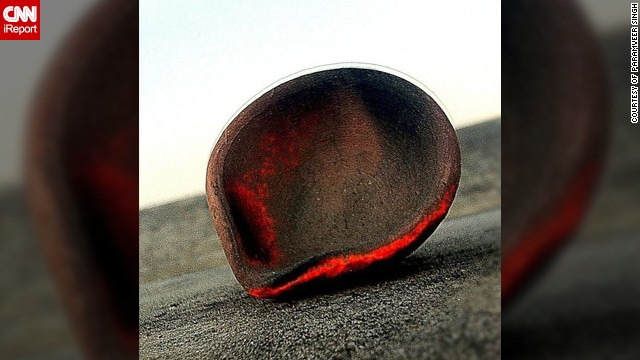 Paramveer Singh took this photo of a diya at his home last year. He says the diya had been burning all night on the roof of his family home in the <a href='http://instagram.com/ShuffleSingh' target='_blank'>Punjab region of India</a>.