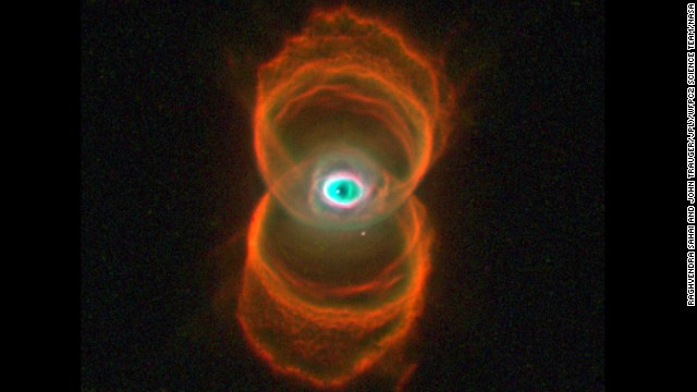 The Hourglass Nebula is a young planetary nebula. The hourglass shape may be produced by the expansion of a fast stellar wind within a slowly expanding cloud, which is denser near its equator than near its poles.