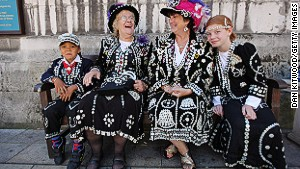 London\'s second royal family, the Pearly Kings and Queens are the mascots of the Harvest Festival.