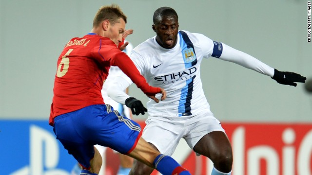 "Manchester City's Yaya Toure says he was subjected to ""monkey chants"" during Wednesday's European Champions League match against CSKA Moscow."