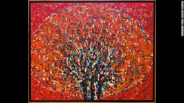 "Professor Ablade Glover: ""Red Forest II,"" 2008.<!-- --> </br>Glover combines a long career in art education with an even more successful career as a visual artist, which has made him an ""elder statesman"" of the contemporary Ghanaian art scene, according to Dickersbach."