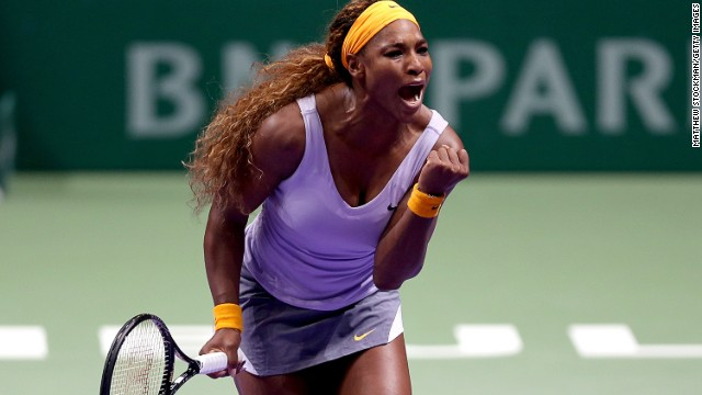 American tennis star Serena Williams extended her unbeaten run at the season-ending event.