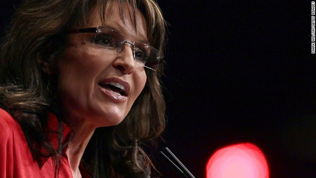 "In the middle of the Republican presidential primaries in February 2012, Palin told the Conservative Political Action Conference that the party needs a candidate who ""can instinctively turn right,"" a dig at eventual GOP nominee Mitt Romney."