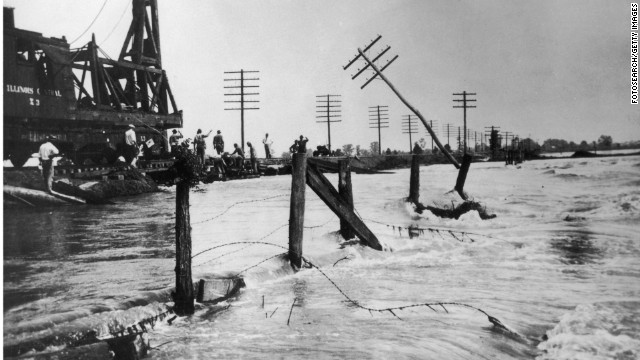 The Great Mississippi Flood of 1927 was the most destructive river flood in U.S. history.