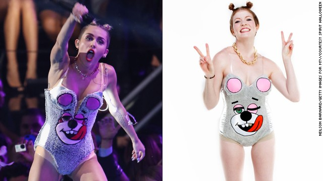 "Get ready to see a few Miley Cyrus clones on fright night, possibly dressed in this ""Twerkin Teddy."""