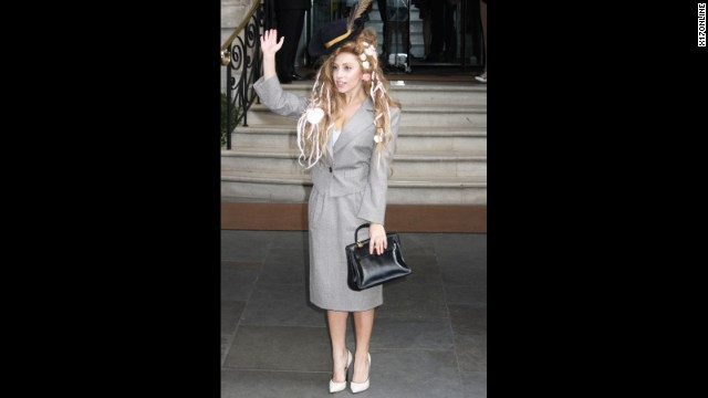 If Mary Poppins were also a mermaid, we imagine she'd look something like Lady Gaga did while in London on August 28.