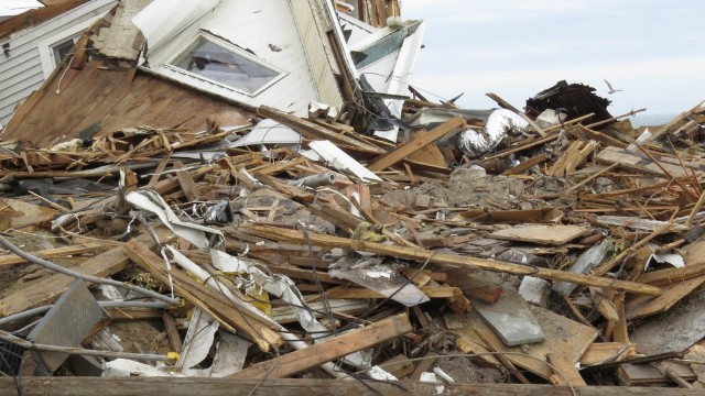 Kenny Vance came home from a music tour to find his house obliterated. Superstorm Sandy leveled the house that had withstood storms since 1916.
