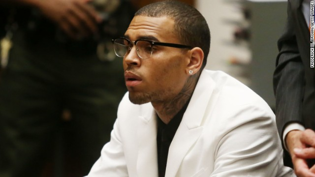 Chris Brown attends a court appearance in Los Angeles, California, on June 10, 2013.
