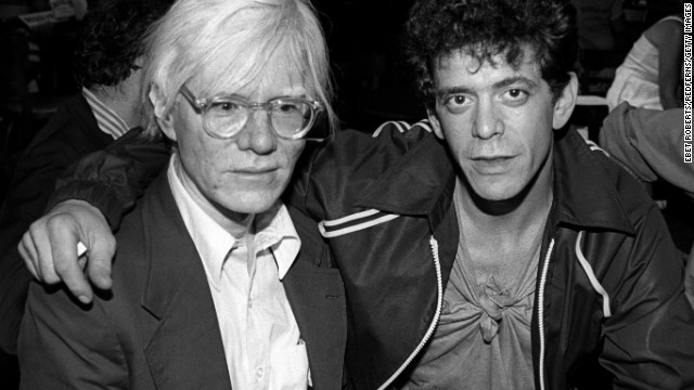 Andy Warhol, left, and Reed at a David Johansen show at the Bottom Line in New York City on July 20,1978.