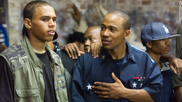 "Brown, left, appeared with ""Scandal"" star Columbus Short in the 2007 film ""Stomp the Yard."""