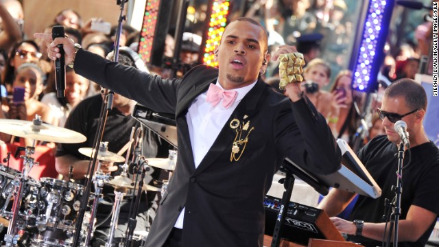 "<strong>February 2010: </strong><a href='http://www.cnn.com/2010/CRIME/02/18/chris.brown.hearing/index.html' target='_blank'>Brown earned a glowing probation report six months</a> after he was sentenced to ""labor-oriented service"" for assaulting Rihanna. ""It looks like you're doing really, really well,"" Judge Patricia Schnegg told Brown during a February 18 probation hearing. The police chief in Richmond, Virginia -- where Brown was allowed to complete his sentence -- reported the singer had worked 32 days of hard labor. Here Brown performs on NBC's ""Today"" show in July 2011."