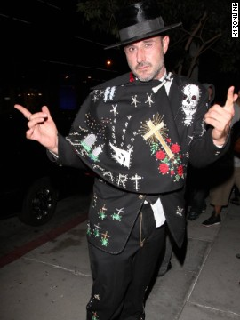 David Arquette gets into the Halloween spirit on October 26.