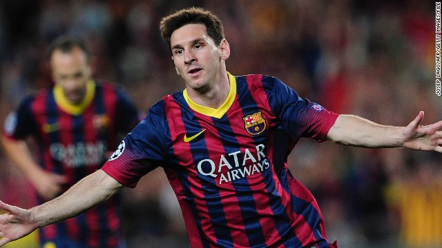 Lionel Messi (Barcelona & Argentina) CNN rating: Contender Can anyone dethrone Messi? The Argentine has lifted the prize in each of the last four years and once again starred for Barcelona during the 2012-13 season as they romped to the Spanish title, scoring 46 goals during a victorious La Liga campaign.