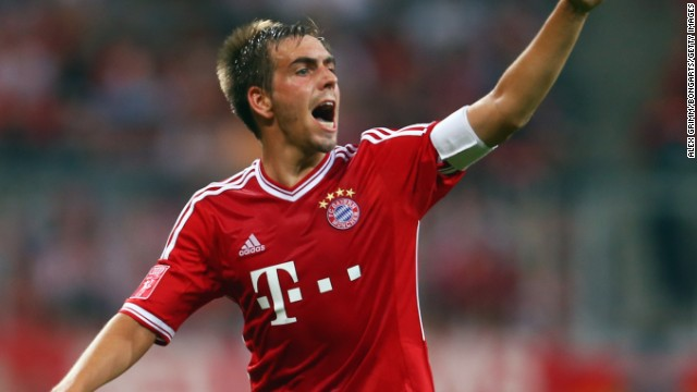 Philipp Lahm (Bayern Munich & Germany) CNN rating: Contender Lahm was captain of the Bayern team which swept all before it last season. The Ballon d'Or would be testament to the German's calm, composed leadership of a team which etched its name in history.