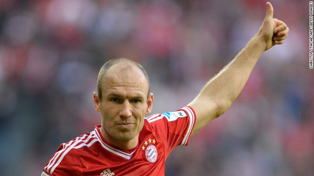 Arjen Robben (Bayern Munich & Netherlands) CNN rating: Contender The Dutch winger finally managed to shake off his tag as a player who chokes on the big stage by scoring a last-minute winner against Borussia Dortmund to crown Bayern champions of Europe. For this alone, Robben is in contention.