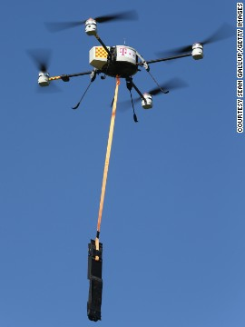 German communications provider Deutsche Telekom is tired of people stealing their copper cables. So they contracted a company to tag overhead telephone cables with drones across Germany in an effort to fight theft of the cables, which has shot up in recent years with the value of copper.