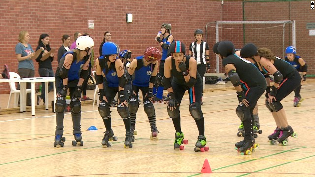 Roller derby is a sport that requires strategy, team spirit and lots of body checking.