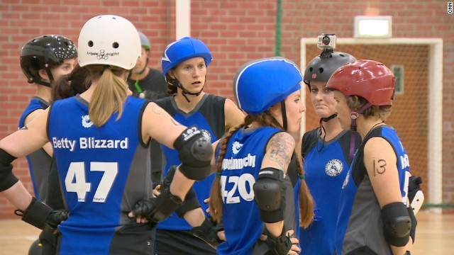 In line with tradition, roller derby players adopt unique names that reflect their alter ego on-track persona.