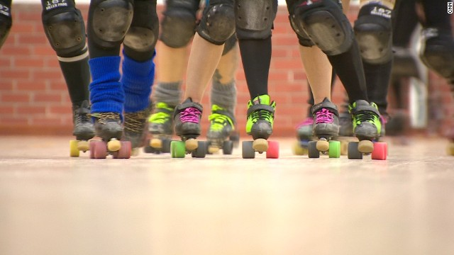 Colorful skates, ripped tights and racy outfits tend to be on display in the full-contact sport.