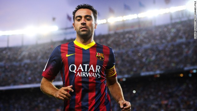 Xavi (Barcelona & Spain) CNN rating: No chance Xavi's list of accomplishments in the game, a World Cup winner, three Champions League triumphs and two European Championships, means he will always be regarded as an all-time great. Regrettably, at 33, the midfielder is battling persistent injury problems.