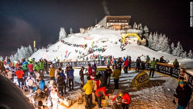 There is something of a party atmosphere at the finish, where competitors are met with a warm drink -- usually followed by more alcoholic beverages as the night turns into a celebration.
